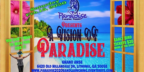 Paradise Carnival Troupe Band Launching for Atlanta Dekalb Carnival 2020 tickets