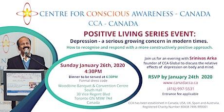 Depression a serious concern Srinivas Arka in Toronto-Admission Fee $60.00 tickets
