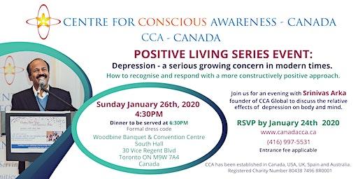 Depression a serious concern Srinivas Arka in Toronto-Admission Fee $60.00