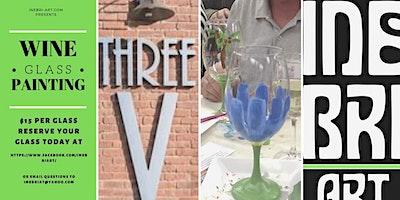 Wine Glass Painting At Three V