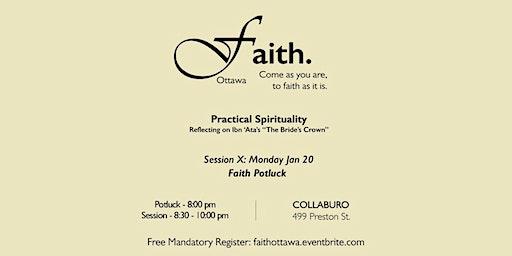 Faith. Ottawa - Practical Spirituality & Potluck