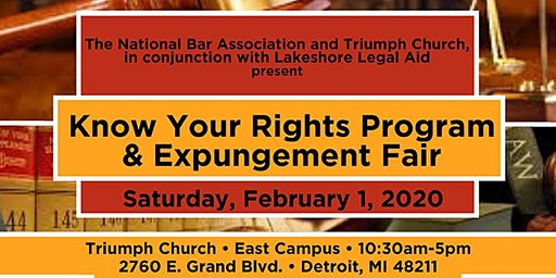 Triumph's Know Your Rights + Expungement Fair