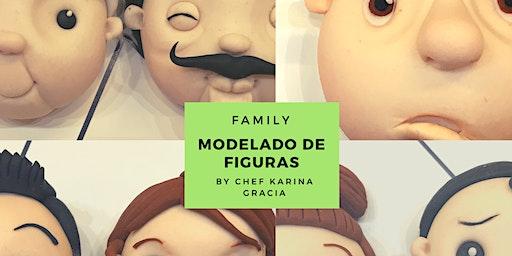 "Modelado de Figuras ""Family""  la Chef Karina Gracia en Anna Ruíz Store"