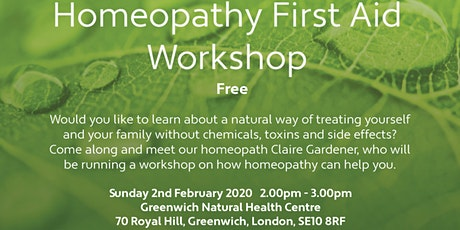 Homeopathy First Aid FREE Workshop tickets