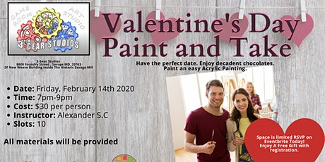 Valentine's Day Paint and Take tickets