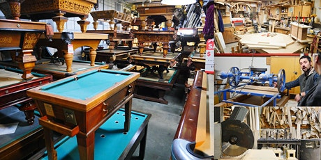 Following the Journey of a Pool Table @ Blatt Billiards Factory tickets