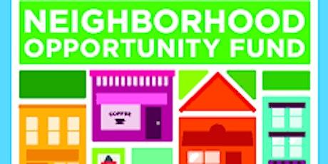 Neighborhood Opportunity Fund Workshop tickets