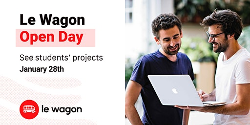 Le Wagon Open Day - Come meet our students and our team!