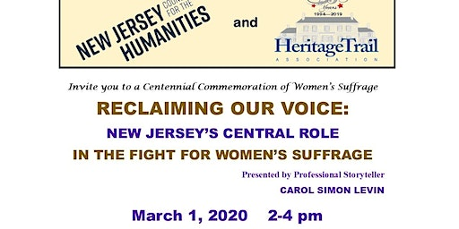 Reclaiming Our Voice: New Jersey's Central Role in Fight - Women's Suffrage