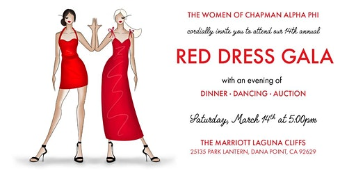 Chapman Alpha Phi Red Dress Gala