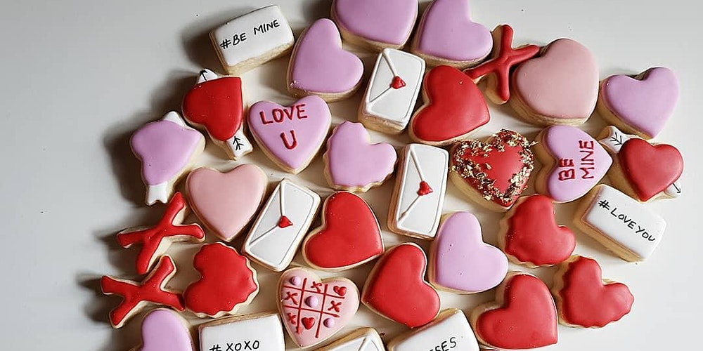 Image result for valentines day cookies