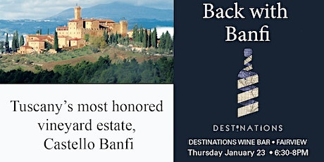Back with crowd favorite, Banfi Vineyards tickets