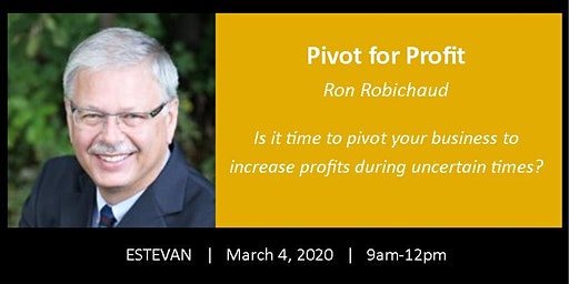 Estevan - Pivot for Profit - is it time to pivot your product or service?