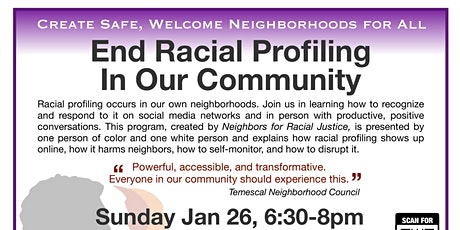 Help End Racial Profiling In Our Community tickets