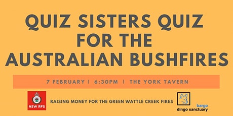 Quiz Sisters Quiz for the Australian Bushfires tickets