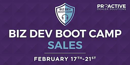 February - Biz Dev Boot Camp Sales