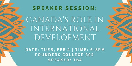 Speaker Session: Canada's Role in International Development tickets