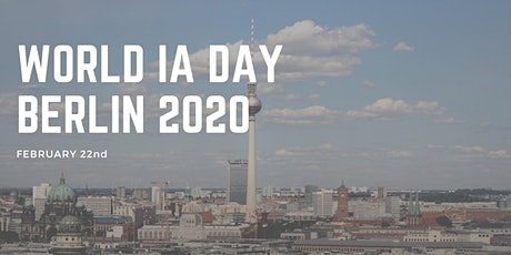 WORLD IA DAY BERLIN 2020 tickets