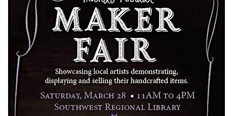 Friends Annual Maker Fair! Showcasing local artisans demonstrating, display tickets