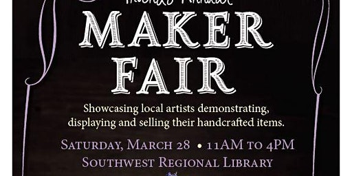 Friends Annual Maker Fair! Showcasing local artisans demonstrating, display