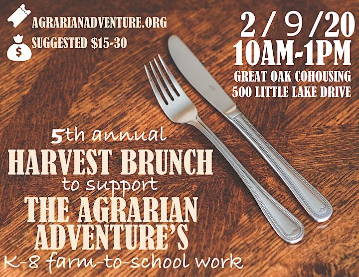 Agrarian Adventure Annual Harvest Brunch image