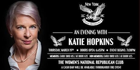 Katie Hopkins March Speaker Series tickets