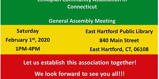 Ethiopian Community Association In Connecticut General Assembly Meeting