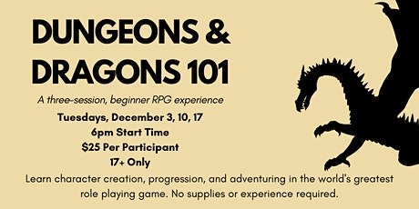 Dungeons And Dragons 101 (Beginner Mini-Campaign) tickets