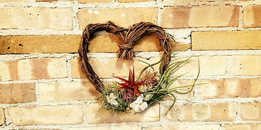 DIY Air plant Heart Wreath Class!
