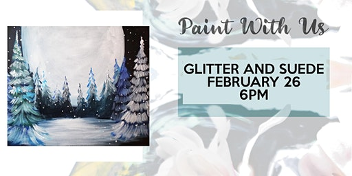 Sip and Paint night at Glitter and Suede!