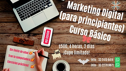 Marketing Digital para principiantes Curso Básico entradas