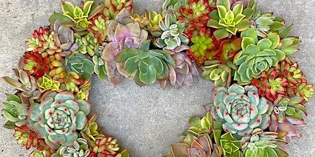 DIY Succulent Heart Wreath Workshop tickets