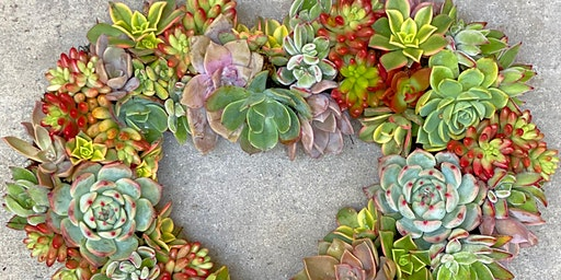DIY Succulent Heart Wreath Workshop