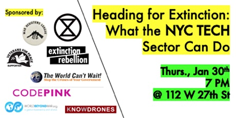 Heading for Extinction and What the NYC Tech Sector Can Do tickets