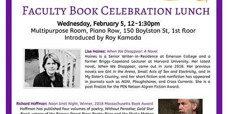WLP Presents: Faculty Book Celebration Lunch tickets