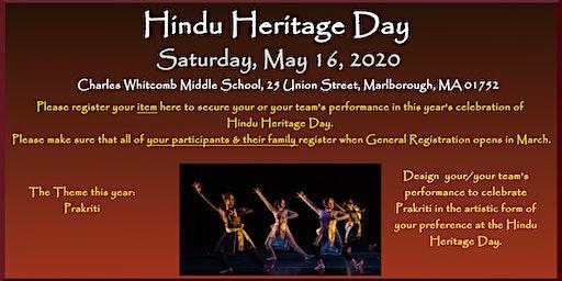 Cultural Program Registration HHD 2020