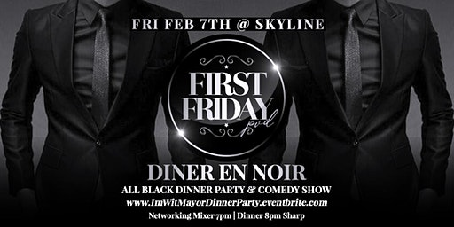 """First Friday PVD """"Diner en Noir"""" Supper Club & Comedy Show"""