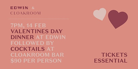 Valentine's Day at Edwin and Cloakroom tickets