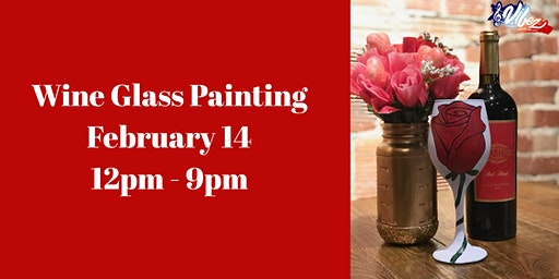 Valentine's Day Wine Glass Painting