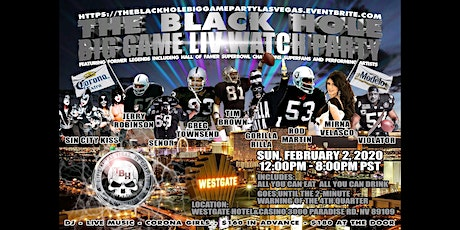 The Official Black Hole Big Game Party - Las Vegas tickets
