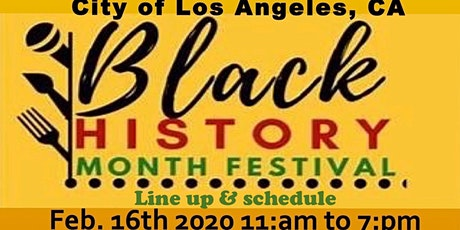 African History Month Festival February 16th 2020 tickets
