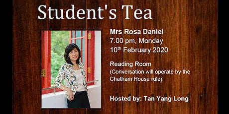 Student's Tea with Mrs Rosa Daniel tickets