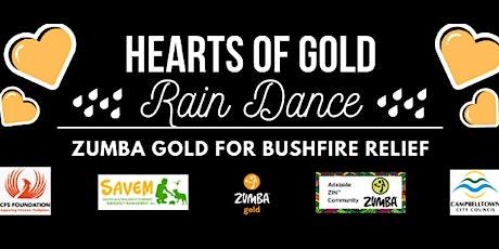 "HEARTS OF GOLD ""Rain Dance"" Zumba Gold Bushfire Relief tickets"