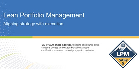Lean Portfolio Management Certification Training in Toronto, Canada tickets