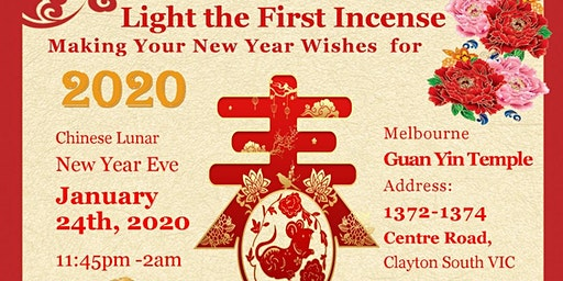 Light the First Incense  Making Your New Year Wishes for 2020