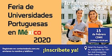 FERIA DE UNIVERSIDADES PORTUGUESAS EN MÉXICO 2020 boletos