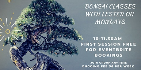 Bonsai with Lester at Minnawarra House tickets