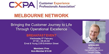 CXPA Melbourne Breakfast  CX & Operational Excellence tickets
