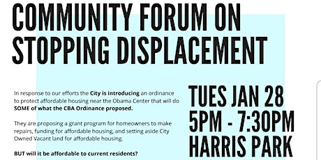Obama Community Benefits Agreement Coalition: A Community Forum tickets