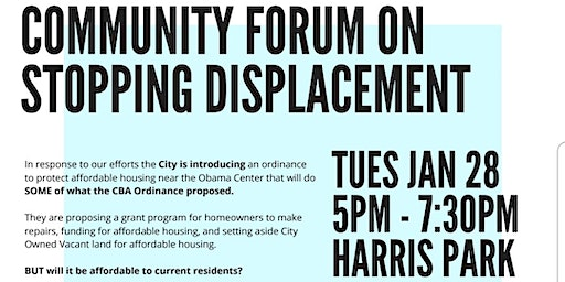 Obama Community Benefits Agreement Coalition: A Community Forum